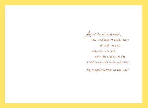For the Proud Parents Graduation Card,