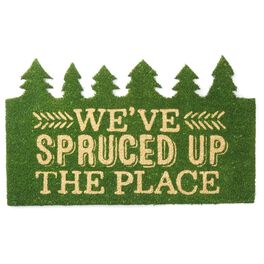 Holiday Spruce Trees Doormat, , large