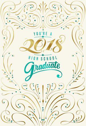 Elegant 2018 High School Graduation Card