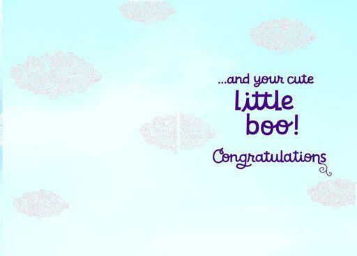Baby Clothes Baby Congratulations Card,