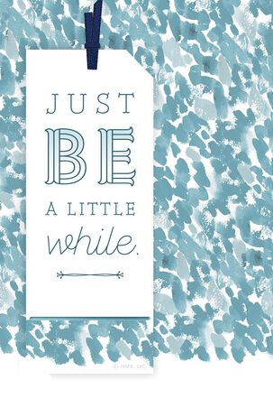 Just Be Encouragement Card With Removable Bookmark