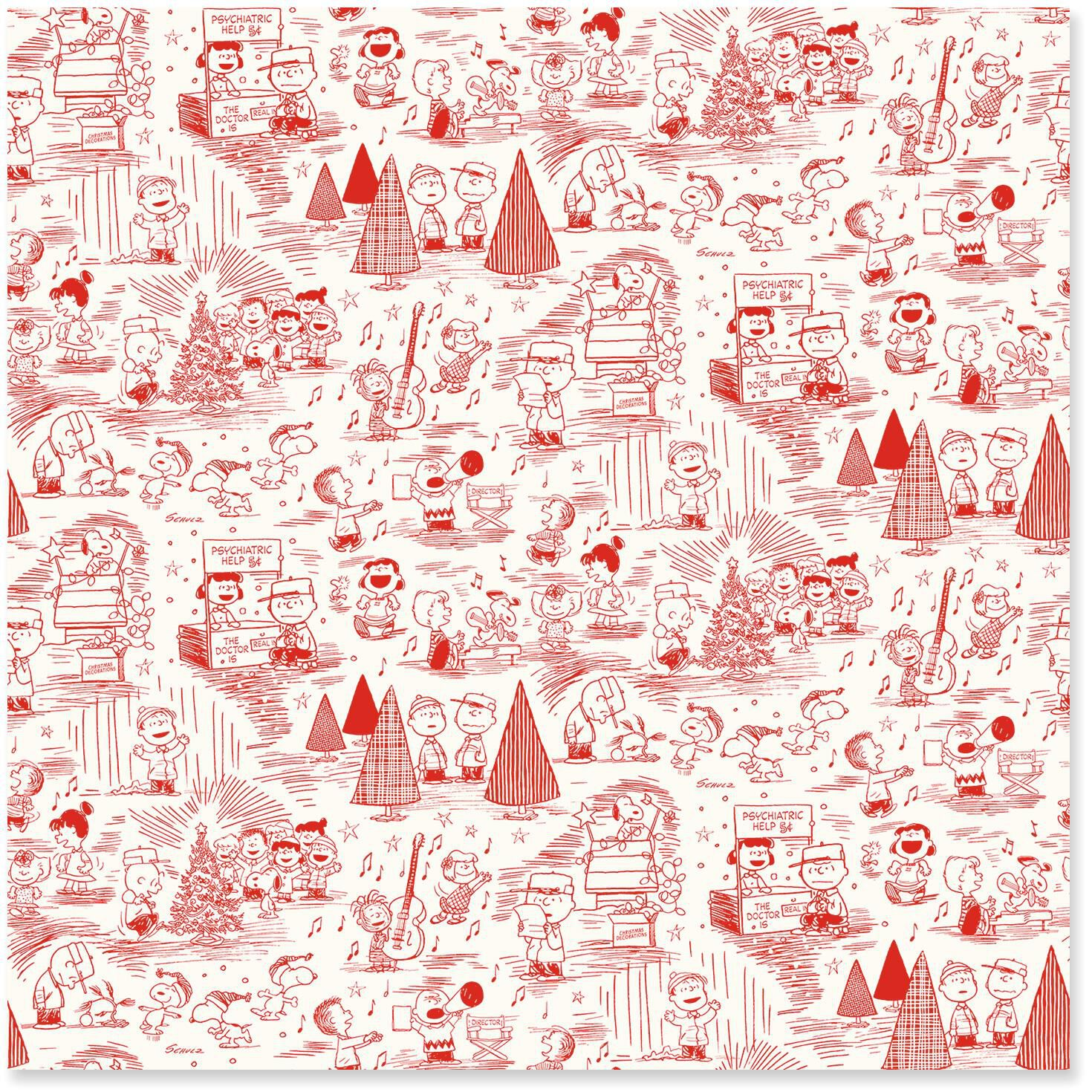 peanuts red toile jumbo christmas wrapping paper roll 80 sq ft wrapping paper hallmark