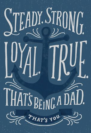 Blue Anchor Father's Day Card