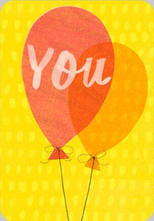 You Balloon Birthday Card