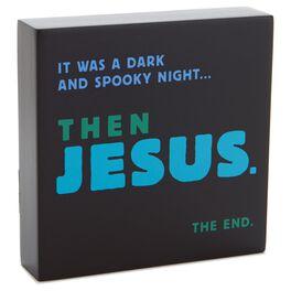 Then Jesus Sentiment Wood Plaque, , large