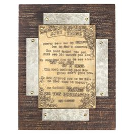DaySpring Just Think Wood and Metal Plaque, 7.5x10, , large