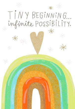 Moms-to-Be Rainbow Heart New Baby Card