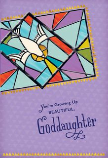 Stained Glass Confirmation Card for Goddaughter,