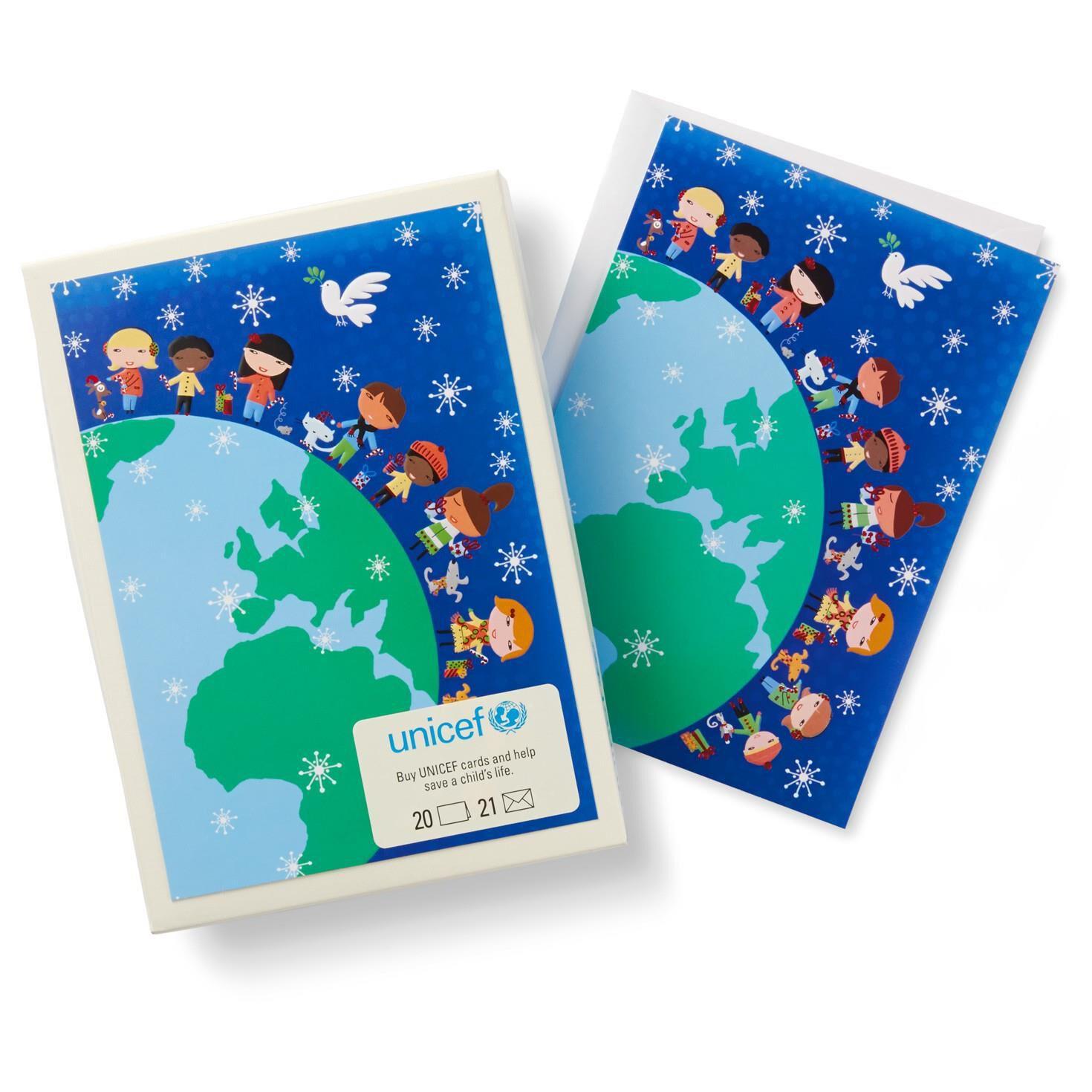 UNICEF Children Around the World Christmas Cards, Box of 20 ...