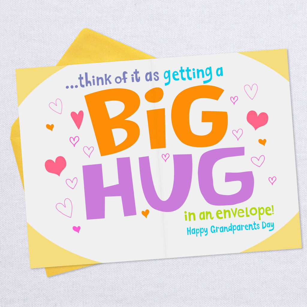 A Big Hug for You Grandparents Day Card for Great-Grandpa