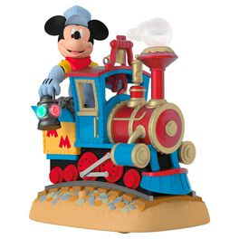 Disney Mickey's Magical Railroad Sound Ornament With Light and Motion, , large