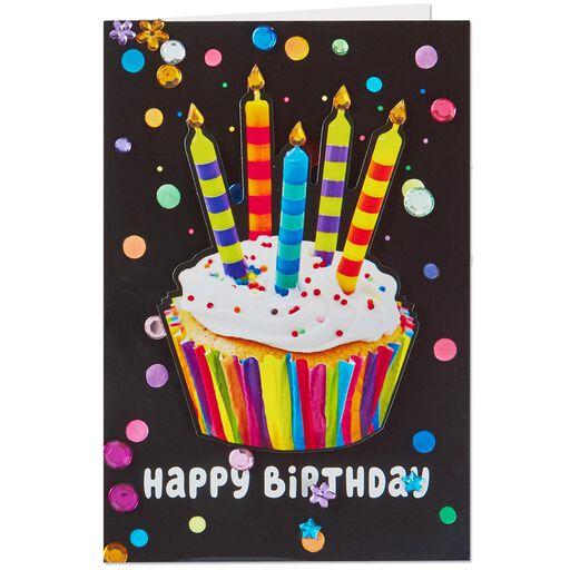 Cupcake Sprinkles Musical Birthday Card