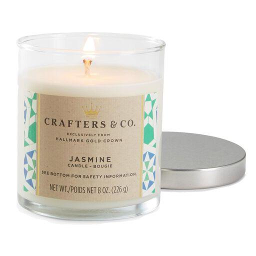 Jasmine Glass Jar Candle 8 Oz