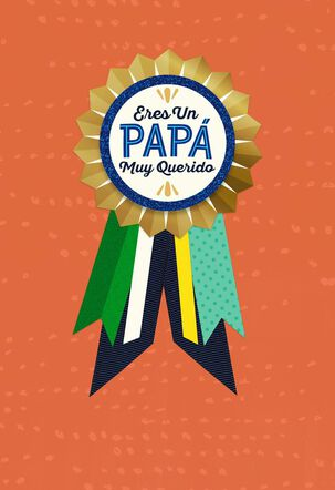 Beloved Father Spanish-Language Father's Day Card With Removable Badge