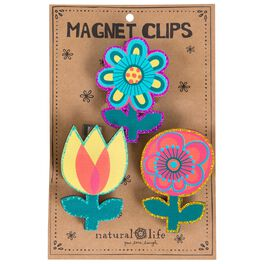 Natural Life Flower Magnet Clips, Set of 3, , large