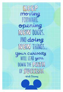 Walt Disney Quote Graduation Card,