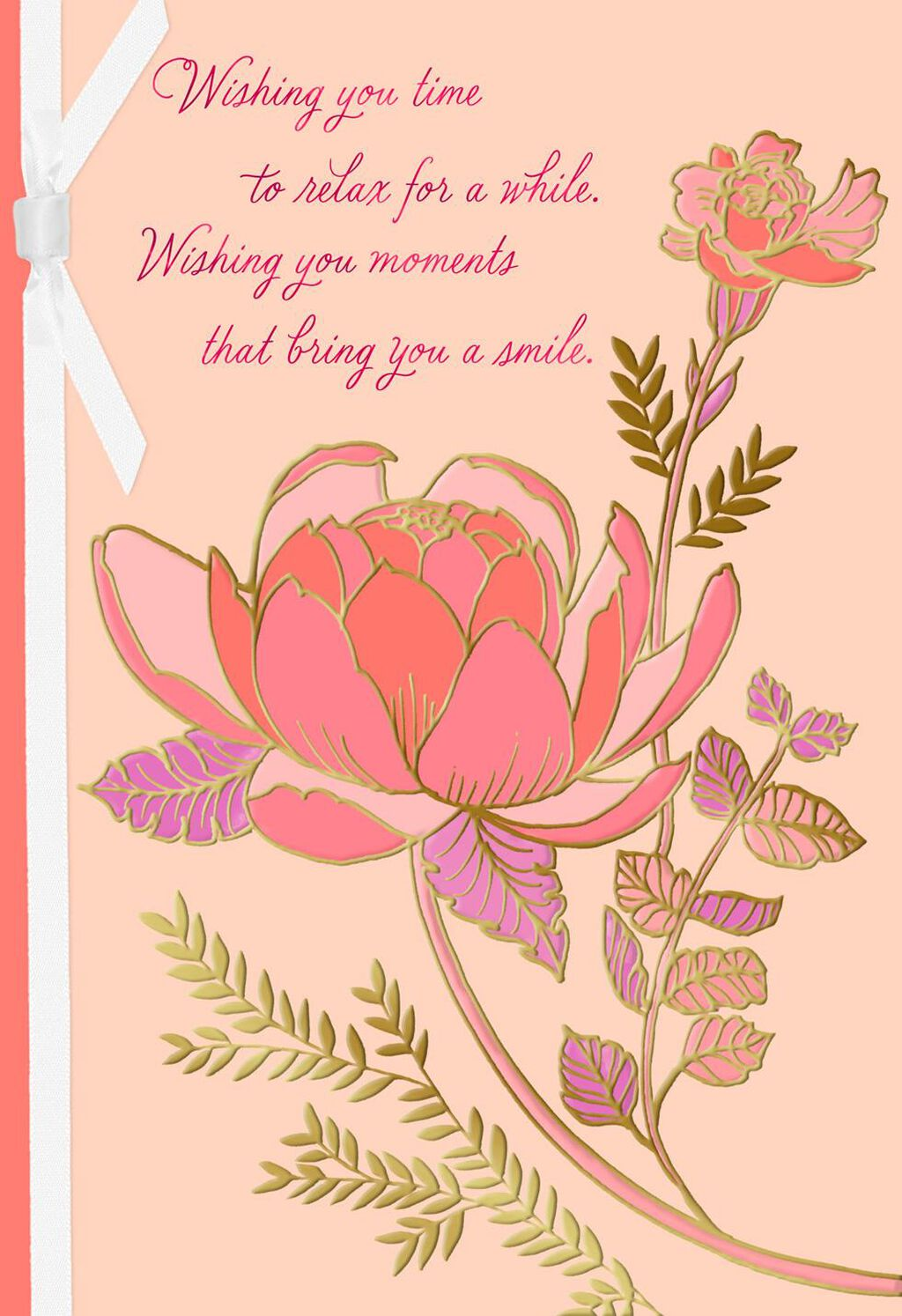 Wishes For You Pink Flowers Birthday Card Greeting Cards Hallmark
