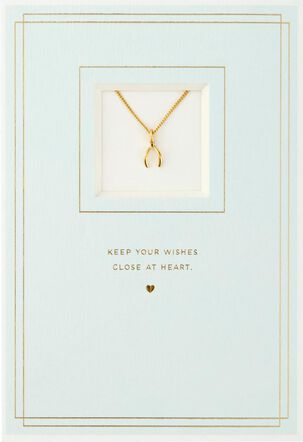Wishbone Necklace Birthday Card