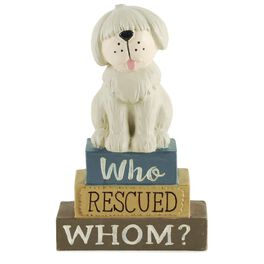 Who Rescued Whom? Dog Sign, , large