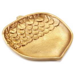 Gold Acorn Serving Plate, Medium, , large