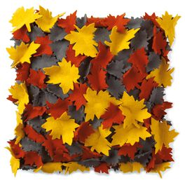 Felt Fall Leaves 16x16 Throw Pillow, , large