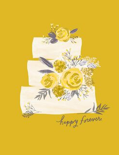 Happy Forever Layer Cake Wedding Card,