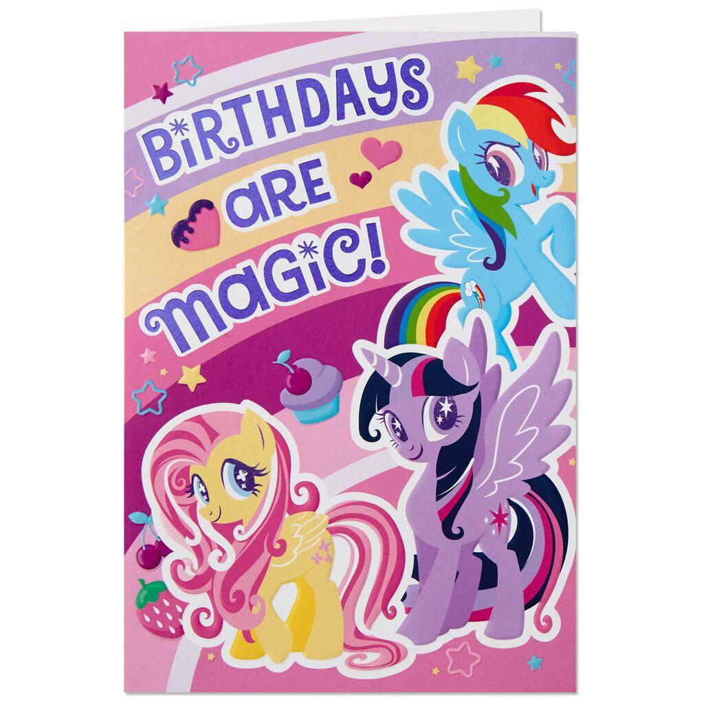 Hasbro My Little Pony High Flying Pop Up Birthday Card Greeting