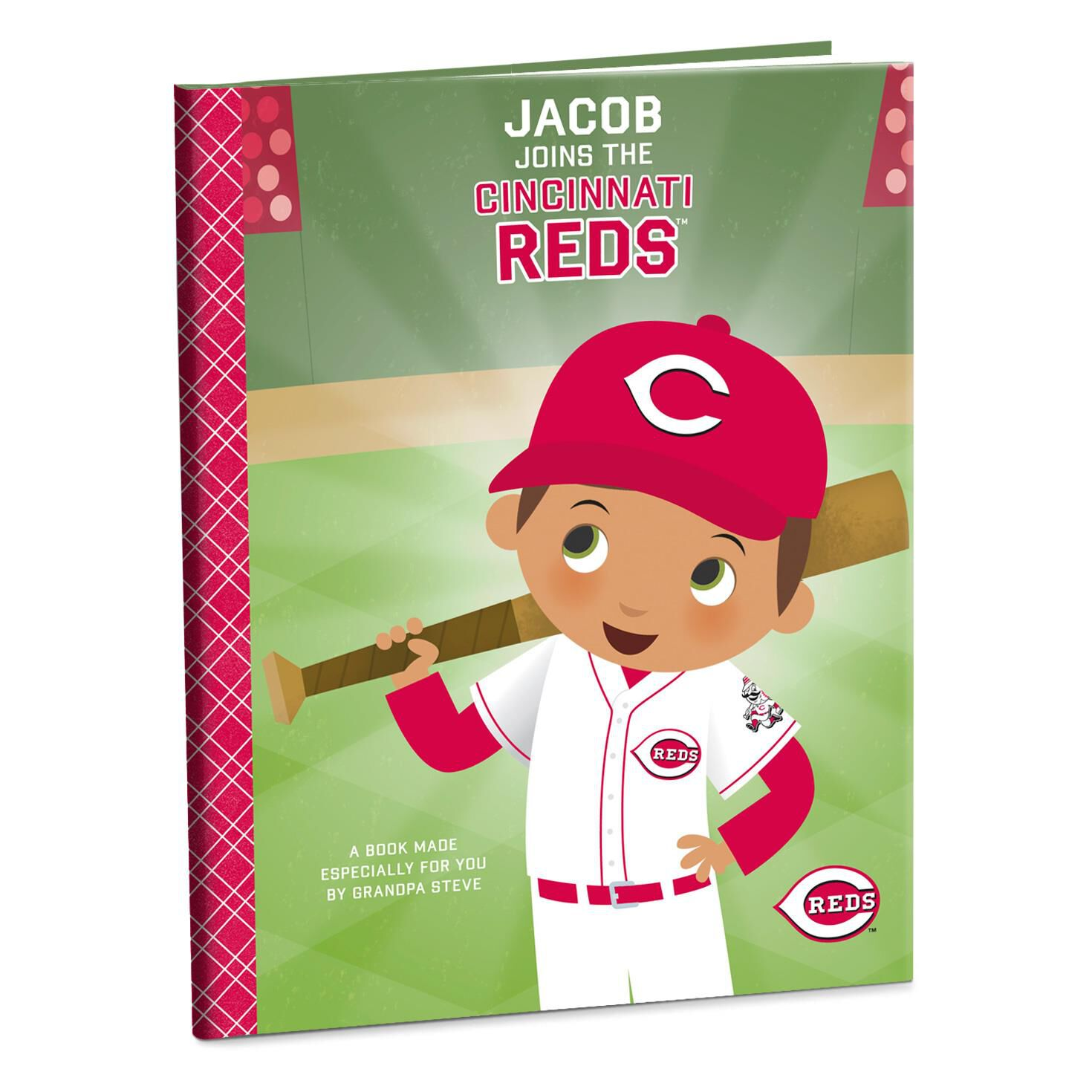 Cincinnati reds personalized book personalized books hallmark negle Image collections