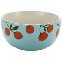 Oranges on Teal Cereal Bowl, , large