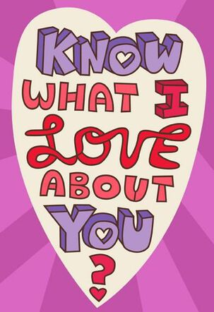 Purple Monster Valentine's Day Card