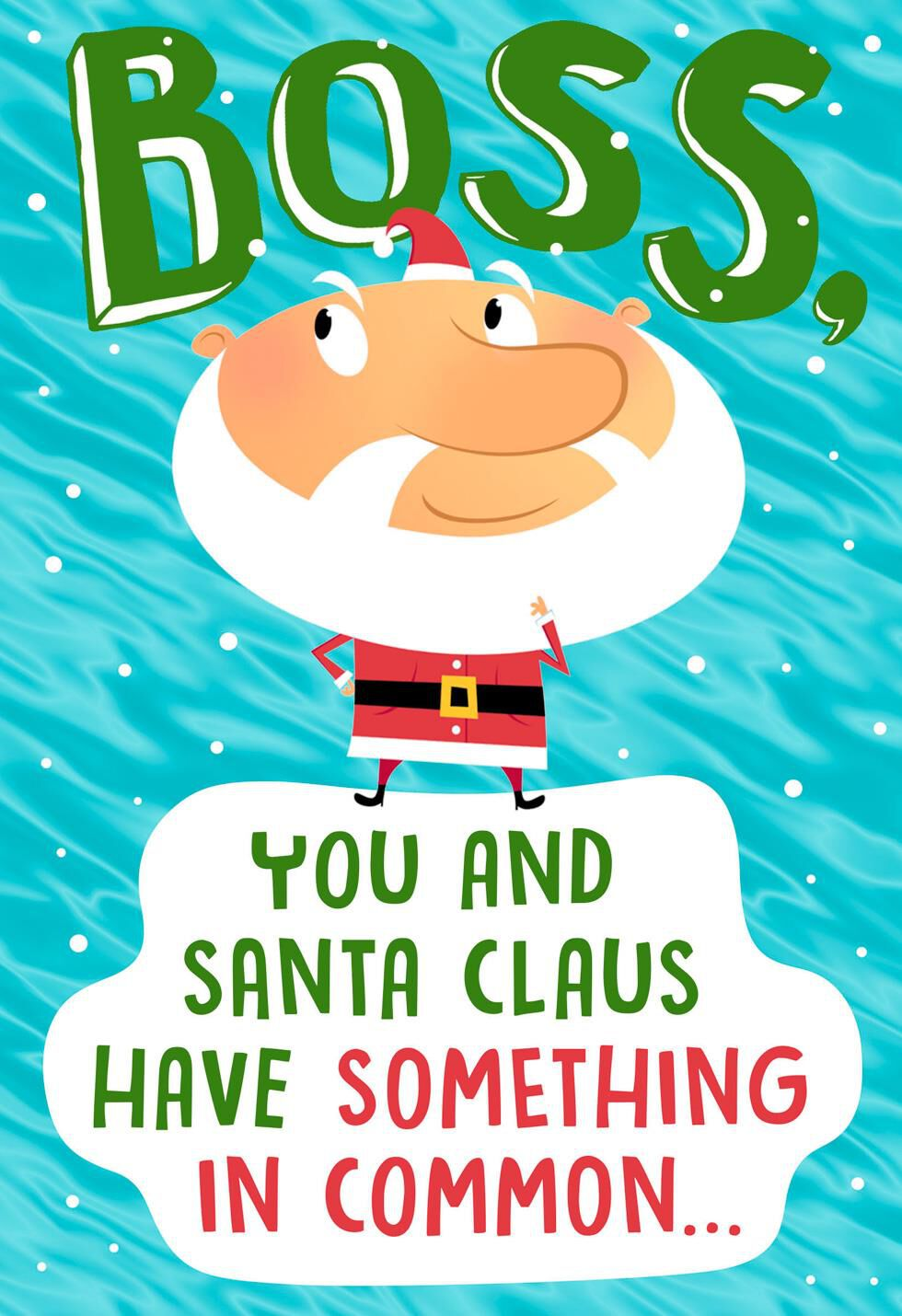 workers pop  christmas card  boss greeting cards hallmark
