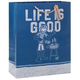 "Life is Good® BBQ Grill X-Large Gift Bag, 15.5"", , large"