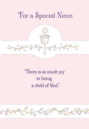 Blessed Niece First Communion Card