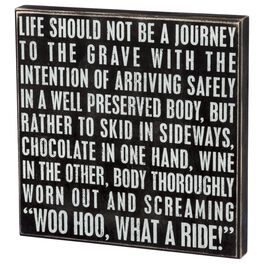 Primitives by Kathy What a Ride Box Sign, , large