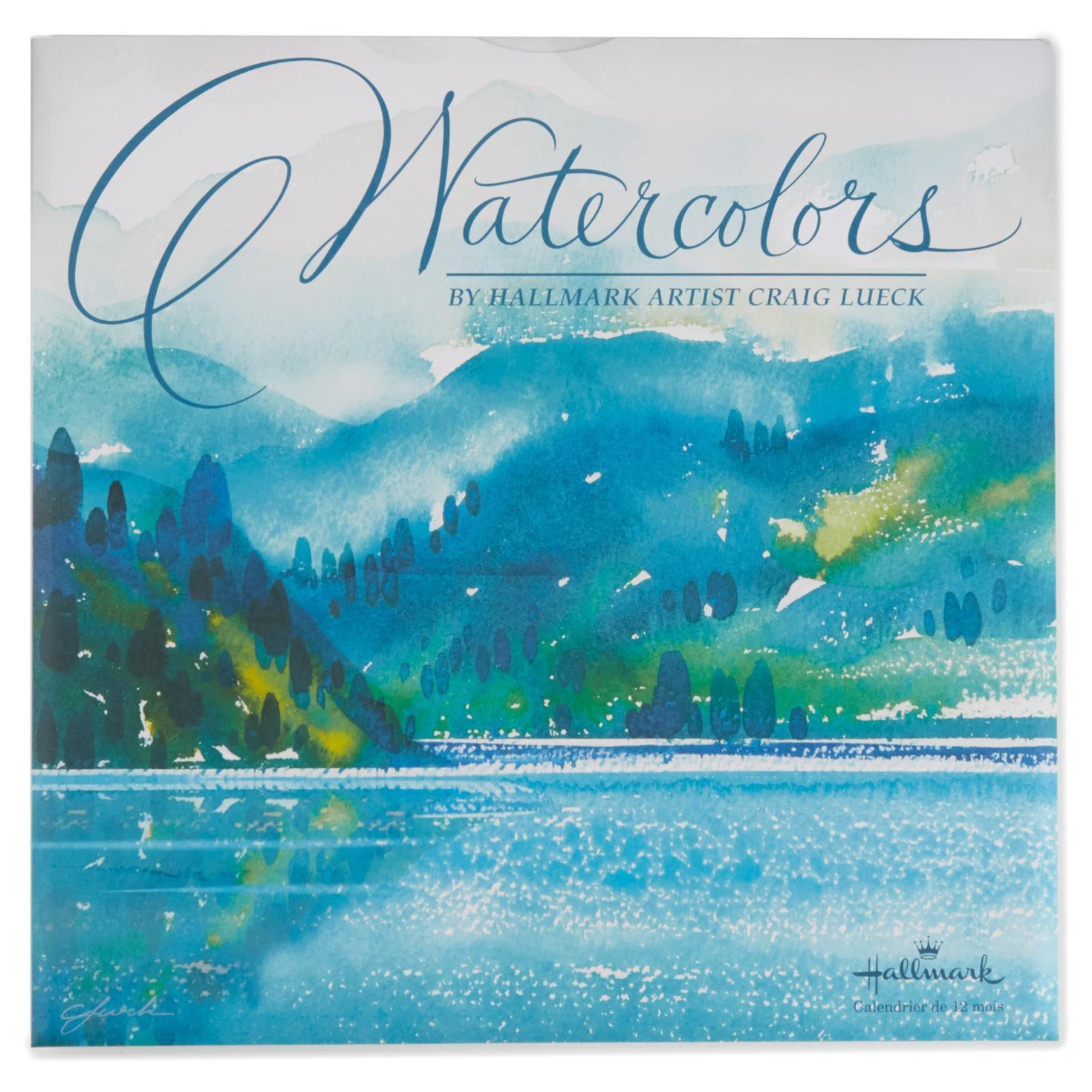 Watercolors 2017 Wall Calendar - Calendars - Hallmark