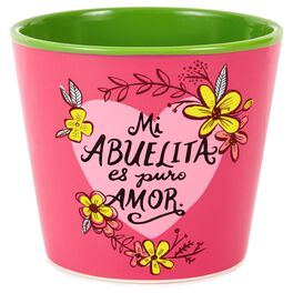 Mi Abuelita Painted Flowerpot, , large