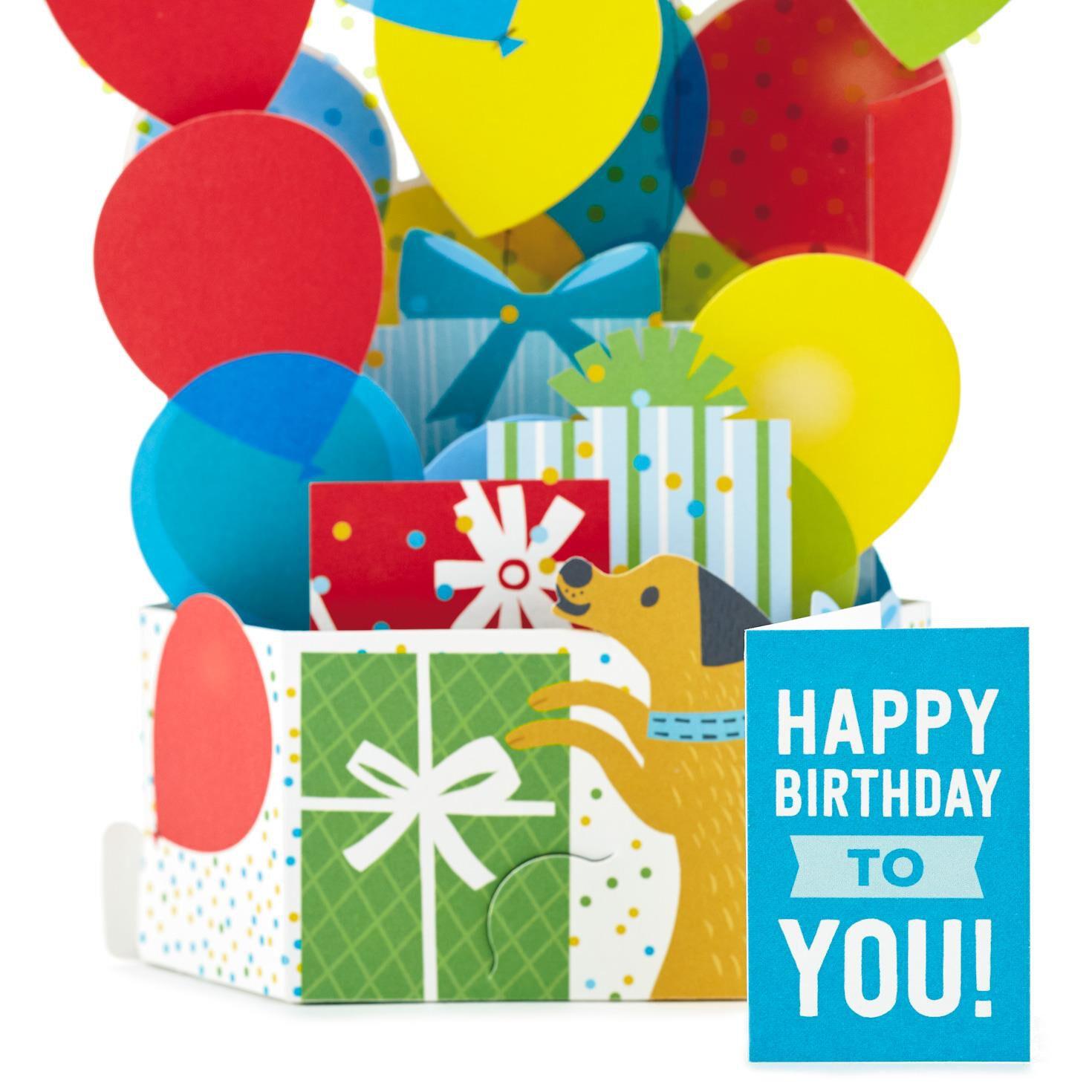 Burst of Balloons Pop Up Birthday Card - Greeting Cards - Hallmark
