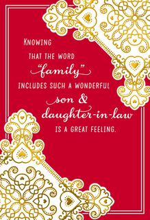 Special Family Valentine's Day Card for Son and Daughter-in-Law,