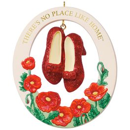 THE WIZARD OF OZ™ THERE'S NO PLACE LIKE HOME™ RUBY SLIPPERS™ Porcelain Ornament, , large