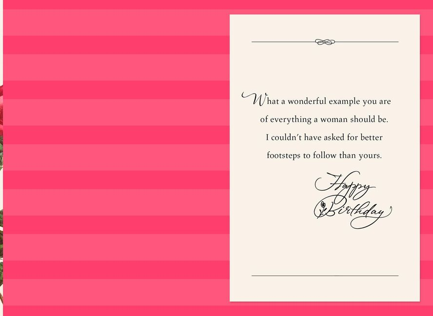 Youre a wonderful example birthday card for mom greeting cards youre a wonderful example birthday card for m4hsunfo