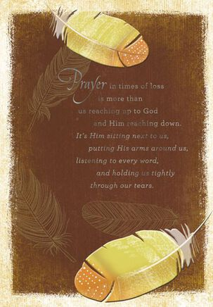 He Holds Us Through Our Tears Sympathy Card