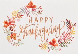 Blessings and Love Thanksgiving Card