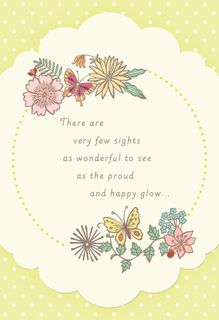 Flowers and Butterflies New Grandmother Card,