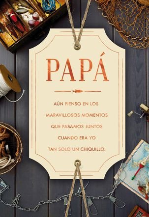 I Adore and Admire You Spanish-Language Father's Day Card for Dad from Son