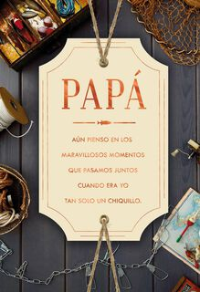 I Adore and Admire You Spanish-Language Father's Day Card for Dad from Son,
