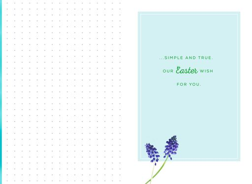 Amazing Grace Flower Bouquet Easter Card,