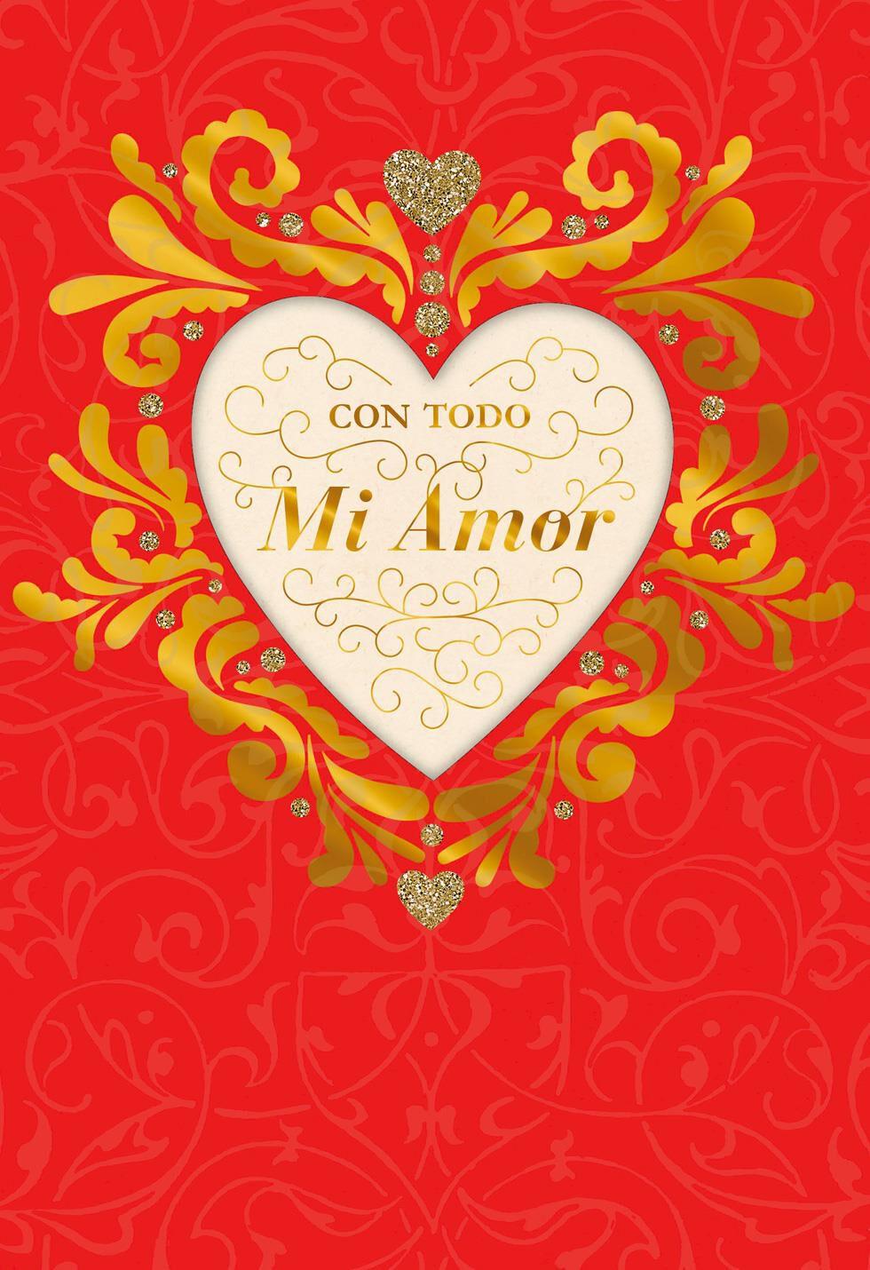Happy Love Day Spanish Language Valentines Day Card Greeting