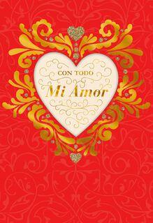Happy Love Day Spanish-Language Valentine's Day Card,