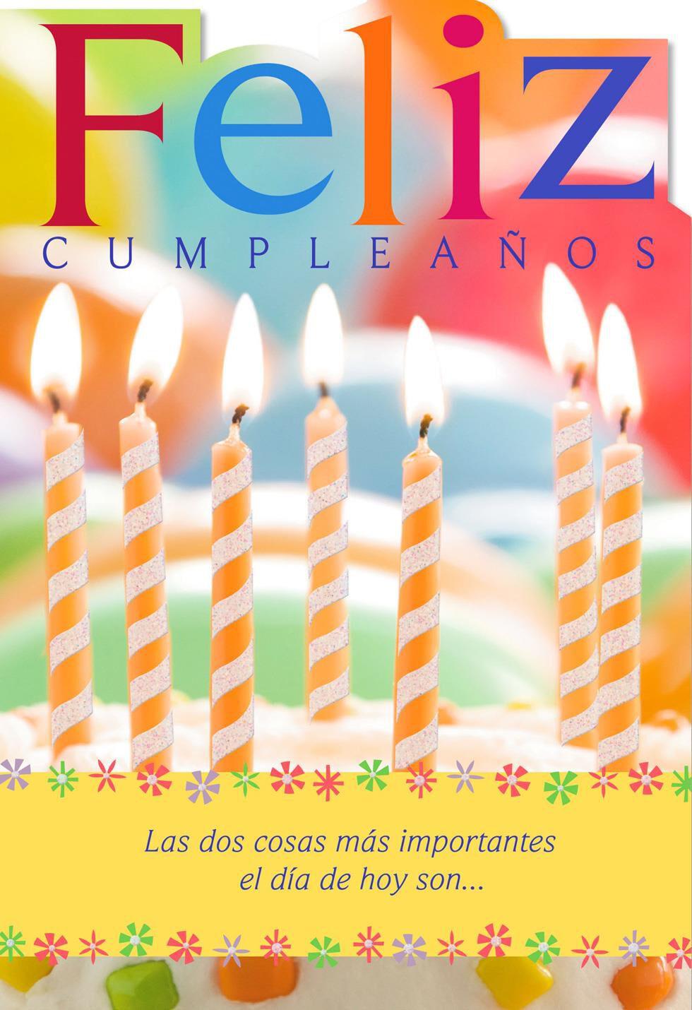 Candles SpanishLanguage Religious Birthday Card Greeting Cards – Spanish Birthday Cards
