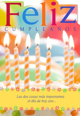 Candles Spanish-Language Religious Birthday Card